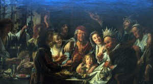 Workshop of Jacob Jordaens (1593-1678) The Feast of the Epiphany, c. 1639-1640 oil on canvas