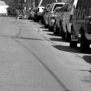 Line of cars in Louisville traffic