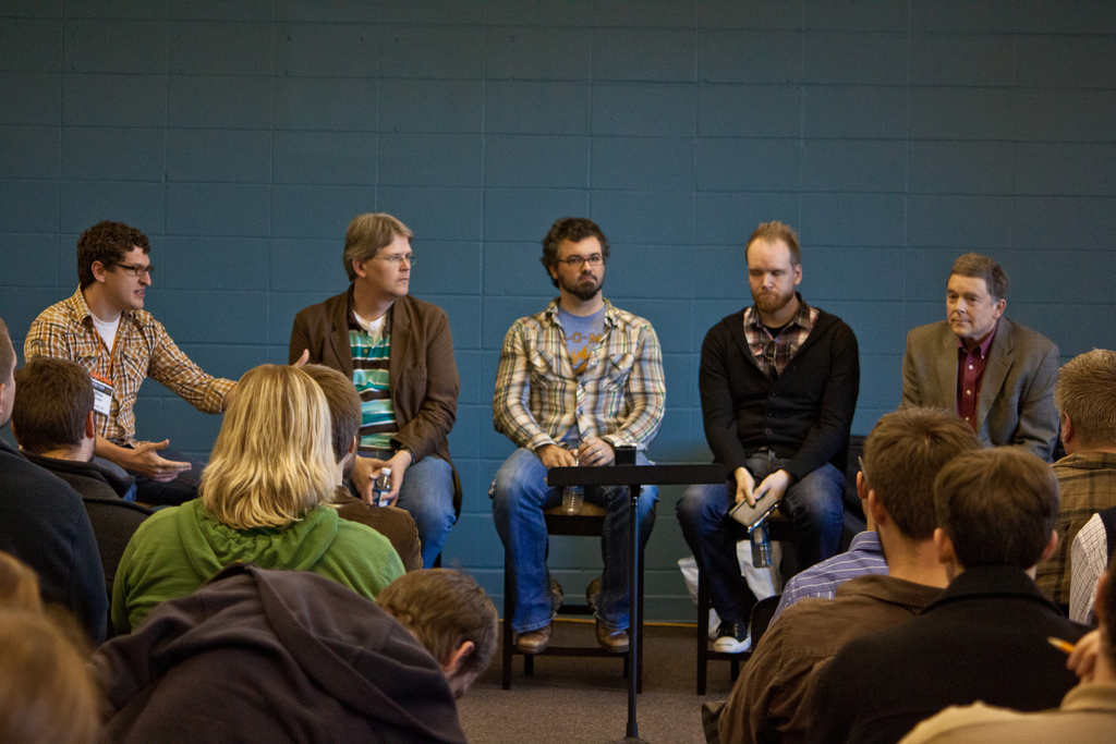 Chip Stam, Mike Cosper, Kevin Twit, Neil Degraide, Tim Smith at Acts 29 Louisville Bootcamp, worship track