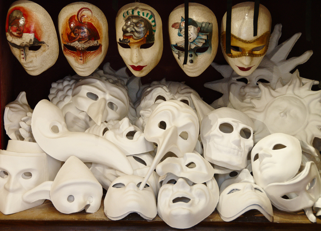 A collection of theater masks