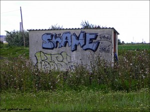 SHAME graffiti photo by cod-gabriel, posted from Flickr