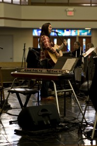 Kristen Gilles leading worship at Fall 2010 Sojourn Women's Conference, at Sojourn's East campus