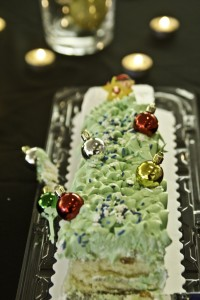 Home-made Christmas tree cake from Sojourn Church Women's Gift Exchange