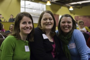 Women with name tags participating at Sojourn Women's Christmas Gift Exchange