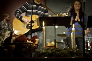 Advent Candles At Sojourn Worship Service