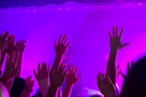Hands Raised as John Mark McMillan leads in worship at Sojourn Community Church in Louisville