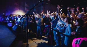 Worshipers at the Austin Stone Live CD release