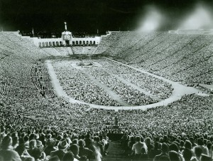 Over 100,000 people at the L.A. Coliseum in 1963 for a Billy Graham Crusade