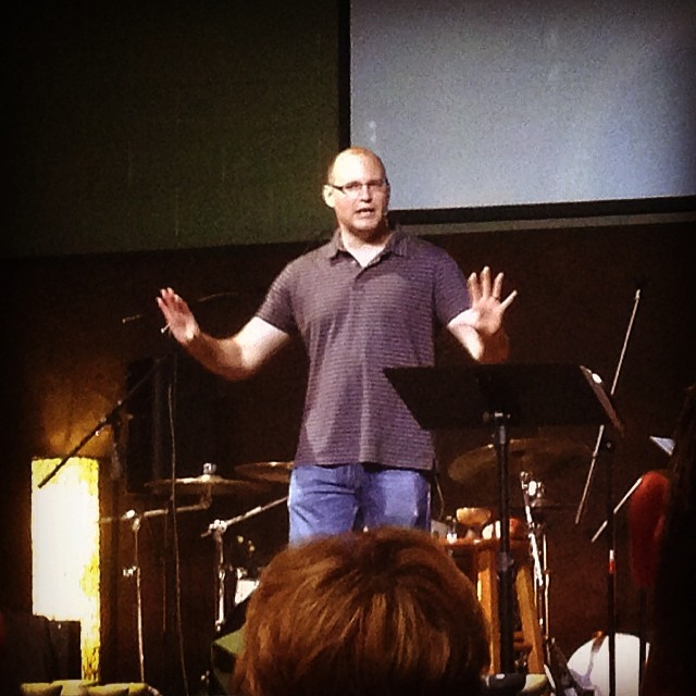 Bobby Gilles preaching at Sojourn Community Church, New Albany, Indiana campus