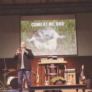 Bobby Gilles preaching -colossians-fox-hedgehod