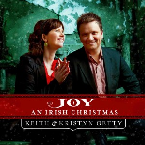 "Album cover art for ""Joy: An Irish Christmas"" by modern hymn writers Keith and Kristyn Getty."