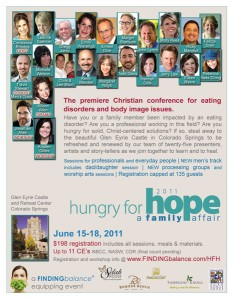 Ad for the 2011 Hungry For Hope conference, where Kristen Gilles led worship