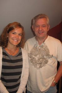 Allie with publisher Dave Clark of Sunday Best Music Publishing in Nashville, TN