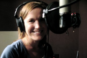 Singer-songwriter Allie Lapointe in the recording studio