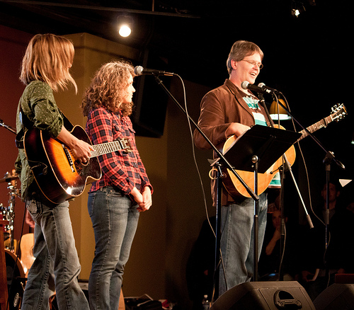 Sandra McCracken, Chelsey Scott & Kevin Twit of Indelible Grace at Sojourn during an Acts 29 Boot Camp
