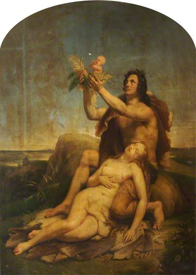 The Birth Of Cain by Théophile Auguste Vauchelet, painted in 1831