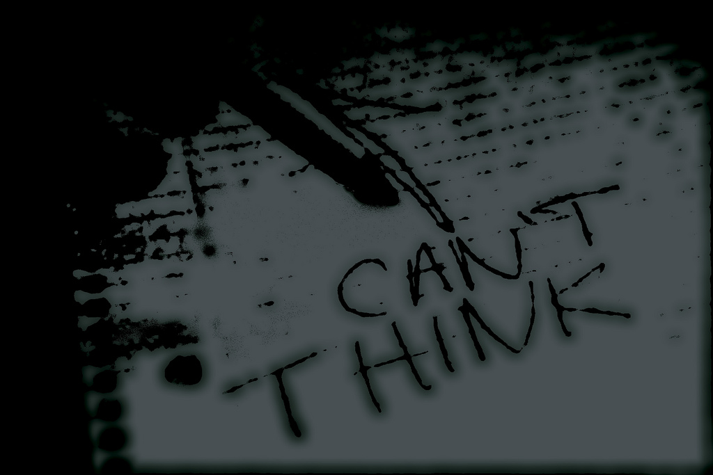 """Can't Think"" graphic design banner"