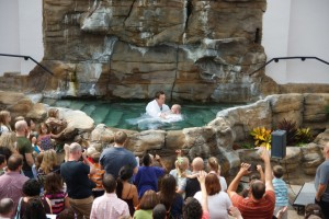 One of many baptisms at Sojourn J-Town, a campus that might not exist save for God's work in the life of one member.