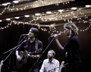 Chuck photographs Matthew Perryman Jones & Katie Herzig in concert at Sojourn's 930 Art Center