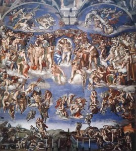 """Reproduction of the Sistine Chapel's """"The Last Judgment"""" by Michelangelo"""