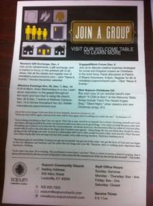 Old Sojourn Church Sunday Bulletin Design