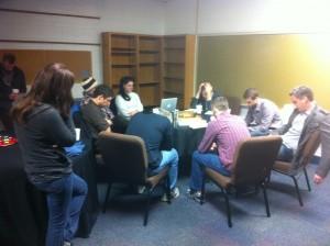 Sojourn New Albany Sunday Team praying